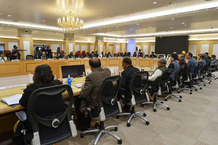 सरकार के साथ बैठक में किसानों ने उठाया NIA की कार्रवाई का मामला